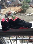 AAA Air Jordan 5 Low Black Red 120
