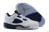 AAA Air Jordan 5 Low White Blue Golden 120