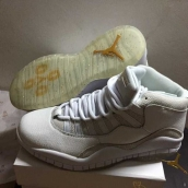 AAA Air Jordan 10 OVO White Golden 170