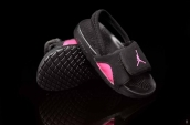 Jordan Slipper Kids Black Pink