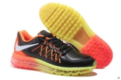 AAA Air Max 2015 Leather Black Yellow Orange White