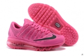 AAA Air Max 2016 Women Leather Pink Black