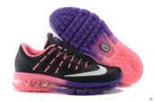 AAA Air Max 2016 Women Leather Black Purple Pink White
