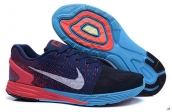 Nike Lunarglide 7 Navy Blue Red Blue White