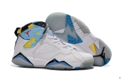 Women Air Jordan 7 Retro White Blue Yellow Red
