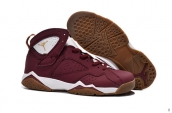 Air Jordan 7 Retro Wine Red White Golden