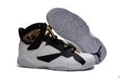 Air Jordan 7 Retro White Black Golden