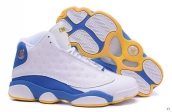 Air Jordan 13 AAA Anthony The Nuggets Combat Boots White Blue Yellow