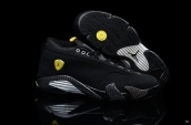 AAA Air Jordan 14 Low Women Black Silvery Yellow