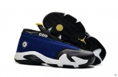 AAA Air Jordan 14 Low Blue Black White