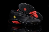 AAA Air Jordan 14 Low Black Red