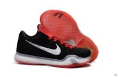 Nike Kobe X Low Elite Black Red Silvery