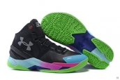 Ua Curry II Black Green Blue Purple Blue