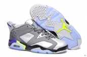 AAA Women Air Jordan 6 Low Grey Silvery Black Purple