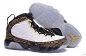 AAA Air Jordan 9 Women White Brown Black Golden