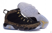 AAA Air Jordan 9 Women Black Brown Golden