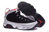 AAA Air Jordan 9 Women Silvery Black Red