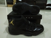 AAA Air Jordan 11 Snake Black Golden 160
