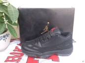 Women Air Jordan 11 Low Black Red