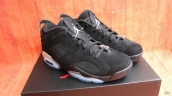 Super Perfect Women Air Jordan 6 Low Black-Chrome 350