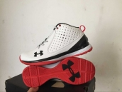Ua Curry One Low Leather White Black Red