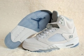 Perfect Air Jordan 5 White Silvery