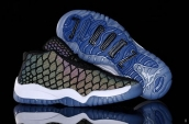 Air Jordan 11 Kids Chameleon Black White Blue