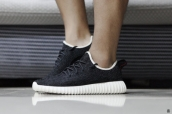 Women Adidas Kanye West Yeezy 350 Boost Black White