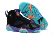 Air Jordan 7 Kids Black Purple Golden