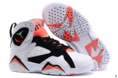 Air Jordan 7 Kids White Black Orange