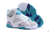 Air Jordan 7 Kids White Grey Jade Purple