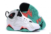 Air Jordan 7 Kids White Green Black Orange