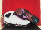 AAA Air Jordan 7 Women Fuchsia Glow White Purple Brown
