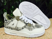 Perfect Air Jordan 4 Women Snake White Green