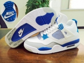 Perfect Air Jordan 4 White Blue