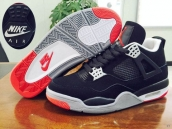 Perfect Air Jordan 4 Black Red White