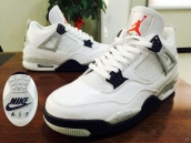 Perfect Air Jordan 4 White Black