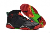 Air Jordan 7 Leather Black Red Green