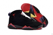 Air Jordan 7 Black Red Purple