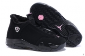 AAA Air Jordan 14 Women Down Black Pink
