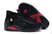 AAA Air Jordan 14 Women Down Black Red