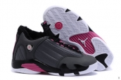 AAA Air Jordan 14 Women Down Grey Black Pink White