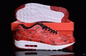 Women AAA Air Max 1 Ultra Lotc Red Black White