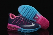 AAA Air Max 2016 Women Flyknit Navy Blue Pink Blue White