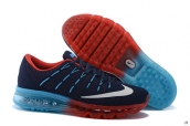AAA Air Max 2016 Flyknit Navy Blue Red White