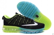 AAA Air Max 2016 Flyknit Black Green White Light Blue