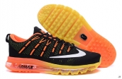 AAA Air Max 2016 Flyknit Black Orange White Yellow