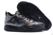 AAA Air Jordan 4 Snake Black Brown