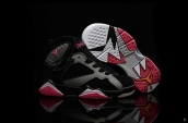 Air Jordan 7 Kids Black Grey Pink