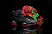 Air Jordan 7 Kids Black Red Silvery